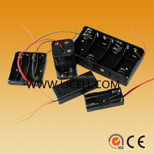 AA AAA C D 9V size battery holder /box /retainer/case with wies , cover and switch