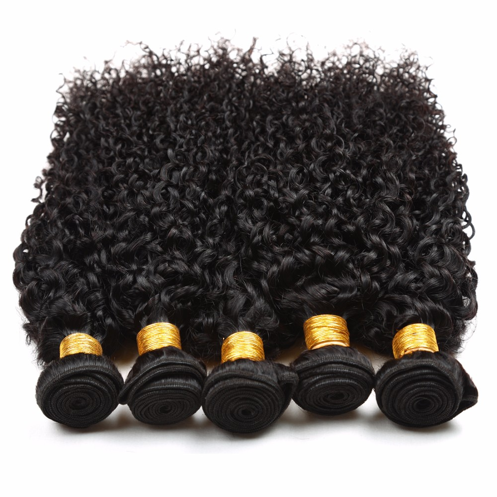 Malaysian Kinky Curly Virgin Human Hair with 13*4 lace frontal