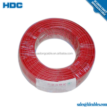 0.75mm 1mm 1.5mm 2.5mm 4mm 6mm copper conductor wire/ electrical cable wire