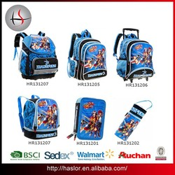 2015 BSCI factory wholesale fashion kids school bag backpack trolley bag for boys