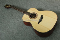Musoo brand acoustic guitar with fanned frets by handcraft with bag