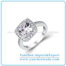 2014 joyería de venta caliente marco de diamantes anillo de compromiso en oro 14k blanco
