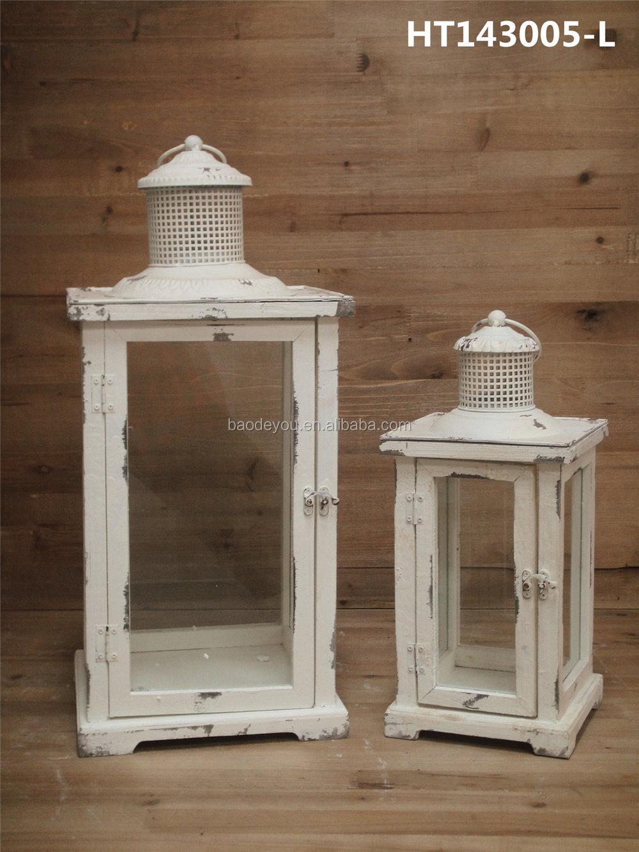 D coration de la maison grand en bois lanterne pour bougies chandelier id de produit 60142850629 - Lanterne exterieure bougie ...