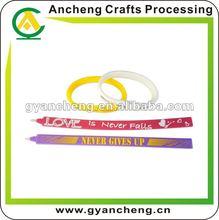 promotional jewelry silicone wrist band bracelets pen