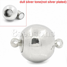 5 PCs Silver Tone Magnetic Clasps 17x12mm
