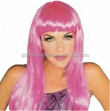 Hot Products Pink Color Straight Cosplay Party Wigs