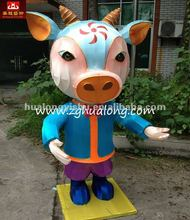 traditional exhibit of lanterns Cartoon figure
