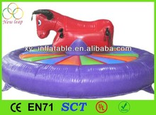 2015 Sport Games Outdoor Amusement Redeo Mechanical Bull Inflatable