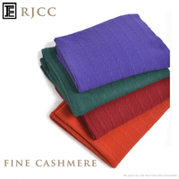 Fine Cashmere Scarf Shawl in Knitted Style