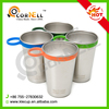 HOT Cup+Silicone Band+Carabiner Stainless Steel Shot Glass Beer Pint Cup Distillery Item