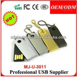 Full Capacity Promo Gift Metal Swivel Usb 2.0 Enough Memory Stick Thumb Twist Pendrive Customize