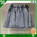 nuevo diseño de dril de algodón proveedor oem stonewash corto de las niñas y las mujeres sexy mini falda de imágenes