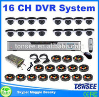 Tonsee new 16 ch DVR security system,sony chip cctv camera,hdd 2.5