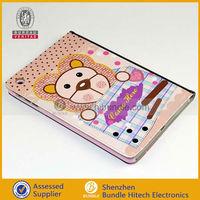 2013 new cute cartoon design for ipad mini cute leather case