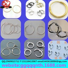Stainless steel copper iron aluminum imitation allergy of float flowers no ear hole u shape circular spring ear clip