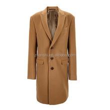 Новые конструкции мода верблюд классические кашемировые пальто для мужчин полная длина