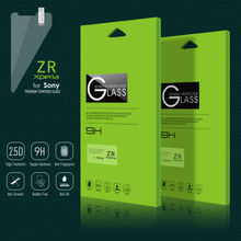 2015 Popular 9H 2.5D 0.3mm premium tempered glass screen protectors for Sony Xperia ZR