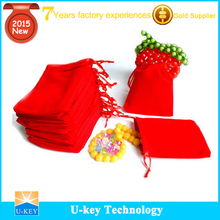 2015 popular power bank suede pouch bag made in china