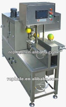 apple processing machine with peeling slicing and cutting