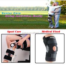Jushuo hinged knee support long hinge stabilizing knee brace