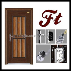 china new model best price eight panel style american steel door with quality high quality steel security doors