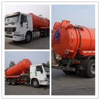 sino 2015 New condition 6*4 15000L Vacuum tanker pump sewage scution truck 15-18cbm sewage tank truck , suction truck for sale