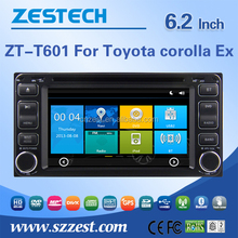 6.2'' touch screen special car dvd for Toyota Corolla Ex with car dvd gps bluetooth phonebook 3g mp3/mp4 tv