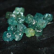 Rare Natural Blue drilled Rough Raw Loose Diamond Lot