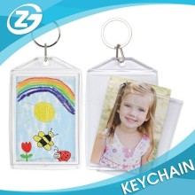Kids Funny Snap-In Photo Picture Frame Plastic Keychain Keyring