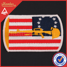 Decorative embroidery sew on flag patches