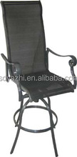 most popular high leg outdoor aluminum frame garden Chair