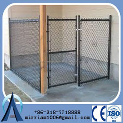 Anping lowes chain link dog kennel/cheap galvanized dog kennel wholesale