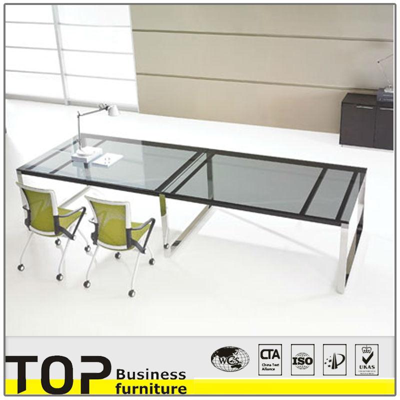 2014 Moderne Table De Bureau En Verre