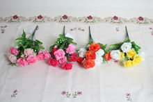 Spring fake Rose flowers artificial flower bouquet decorative Rose landscaping flower bouquet