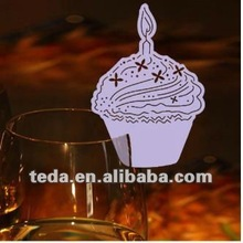Cake Design Wedding Favor Place Cards On Wine Glass