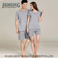 2015 new style 100 Cotton Stripes Two Pieces Unisex Leisure Lounge Home Casual Wear