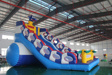 2015 inflatable Dragon inflatable slide/inflatable double lane slip slide