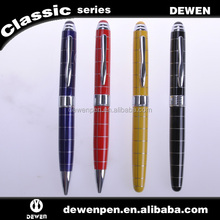 Linear cutting Colorful luxury pen metal pen sets