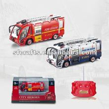 2012 new 1:87 metal R/C fire engine toys for kids