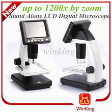 """5 Mega Pixels 3.5 inch lcd digital microscope digital camera lcd screen replacement with 8 LEDs 3.5"""" LCD Display"""