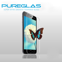 For iphone 5 0.33mm mirror screen protector with pureglas brand packaging