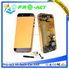 Back Battery Housing Cover Assembly with full small parts for iPhone 5 5G black gold white