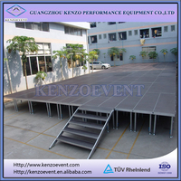 portable outdoor event stage with stairs