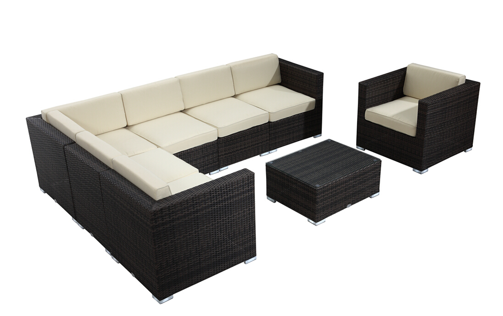 Ext rieur sofa sectionnel ms a323 chine meubles en rotin for Canape rotin exterieur