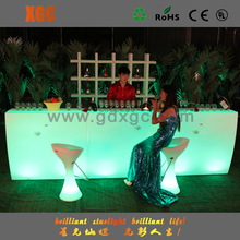evening show bar counter for sale/nightclub led tables/led illuminated furniture bar table