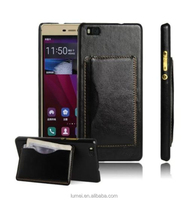 Luxury Leather Stand Hard Back Shell Case Skin Cover For Huawei Ascend P8 Lite