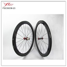 Leading carbon rim carbon wheel Manufacturer Far Sports 50mm x23mm full carbon bicycle wheel set with Powerway R36 hub Straight