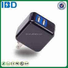 2015 New products US Plug AC Power Adapter Dual USB Travel Charger with UL