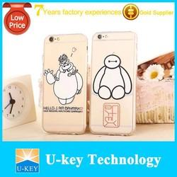 Ultra Thin Soft TPU Baymax Cartoon Phone Case for iphone 6 Clear Case