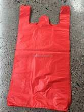 red vest carrier shopping plastic bags t-shirt plastic bag manufacturer in China